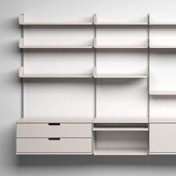 vitsoe 606 universal shelving system designed by dieter rams in