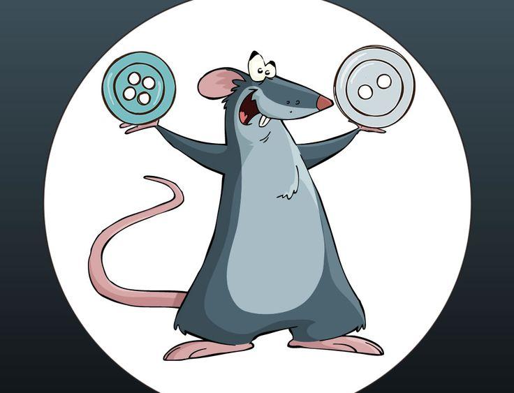 Cuento con valores para niños : El ratón que cosía botones. El señor ratón llevaba trabajando toda su vida en la fabricación de adornos. Los hacía con mucho mimo, y tan solo utilizaba botones para ellos.
