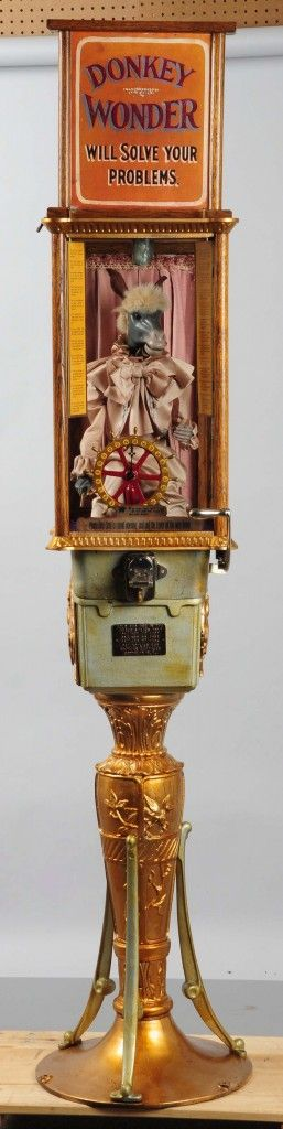 Mike Gorski re-creation of Roovers 1-cent Donkey Wonder clockwork fortune teller, est. $12,000-$15,000. (Photo courtesy Morphy Auctions).