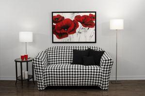 Gorgous Black and White Loveseat Slipcover, Trendy living room, Home Decor, Fashionable Furniture Design