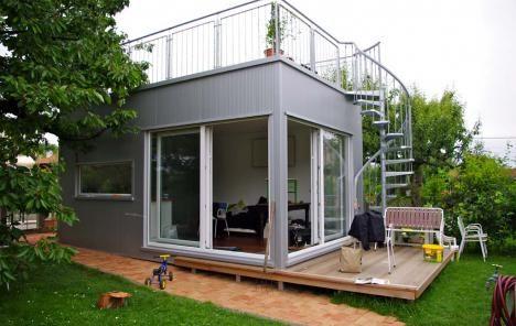 Mikrohaus mit Dachterrasse