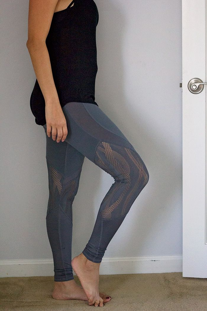 alo yoga vitality mesh leggings. Inside my fitness trunk from trunk club for women. Click to see the rest of my athleisure pieces from this specialty trunk!