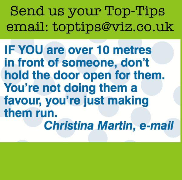 Top Tip - Holding a door open...