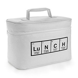 Cute lunch bag for all those fans of lunch and the Periodic Table of the Elements. ThinkGeek :: Periodic Lunch Bag