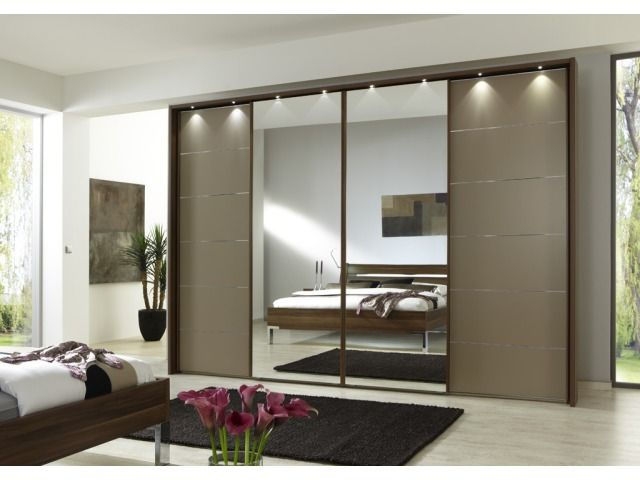 Beautiful Manhattan Sliding Wardrobe With Mirrors 250cm