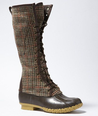 L.L.Bean Signature Wool Houndstooth 16 inch Bean Boot | Free Shipping at L.L.Bean. Made in Maine