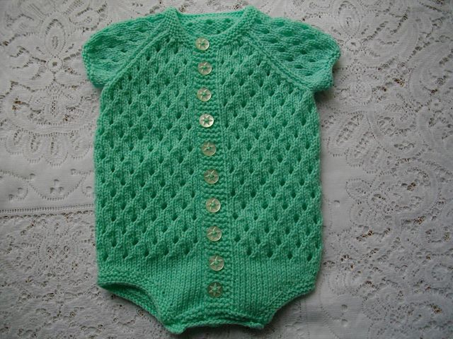 Baby Onesie Knitting Pattern : 150 best images about Baby Girl - Onesies & Rompers on Pinterest Baby p...