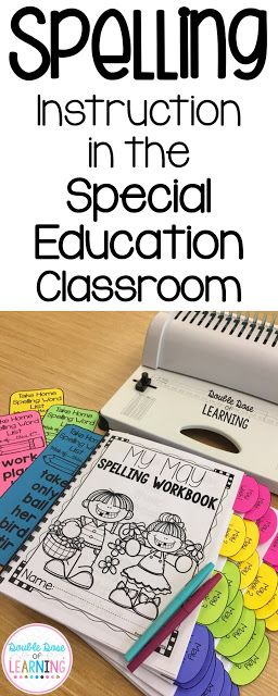 Spelling Instruction in the special education classroom, strategies and methods that allow students to achieve effective results in understanding spelling patterns at a functional all the way up to a third grade level. Double Dose of Learning