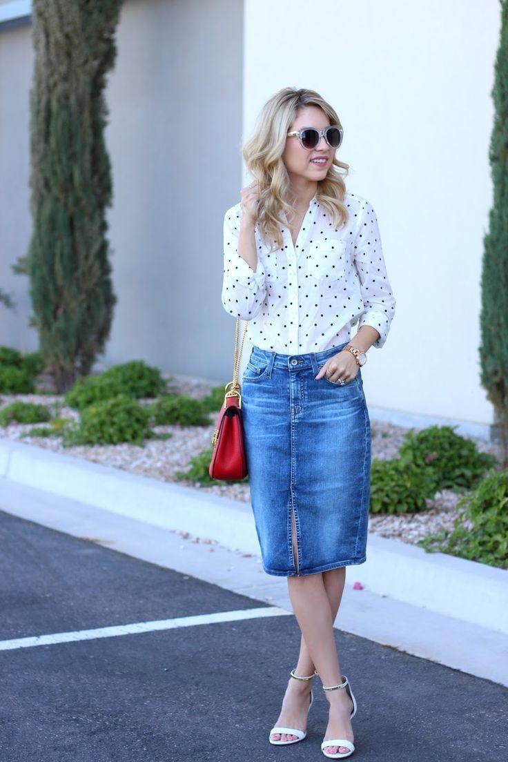 Denim Skirt Outfit @bigstardenim @maisonjules   monic sutter blog simply sutter