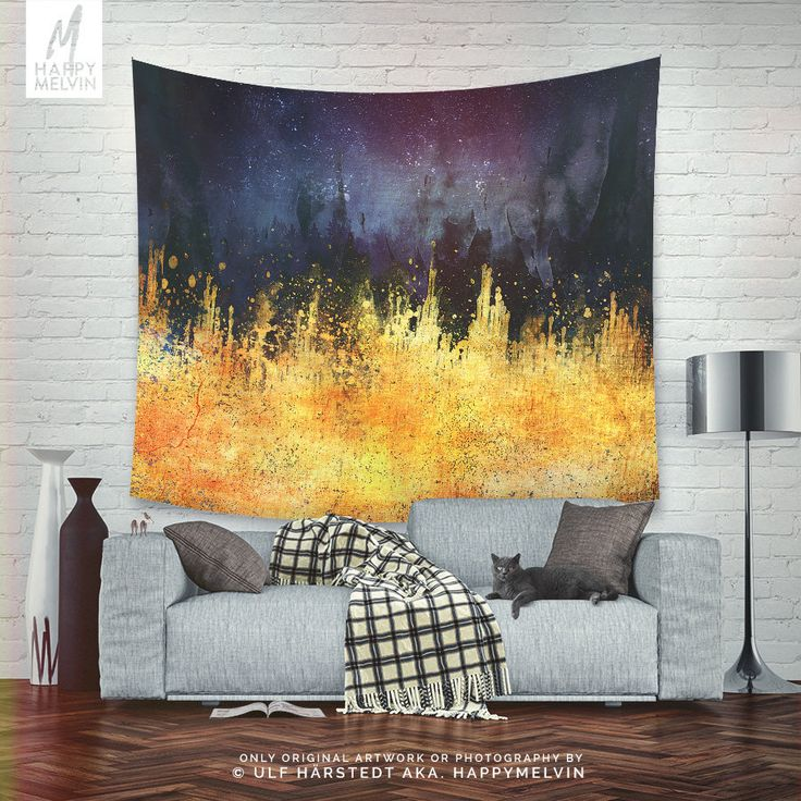 Excited to share the latest addition to my #etsy shop: Burning desire | Colorful and abstract art wall tapestry | Boho Wall Hanging | Original Wall Art | Boho Wall Decor | Home Decor | In 3 Sizes http://etsy.me/2DzUg7X #housewares #homedecor #yellow #purple #unframed #