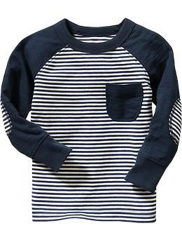 Striped Elbow-Patch Tees for Baby | Old Navy