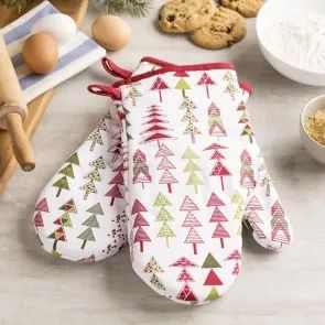 Want to look your best while making your famous Christmas treats? Check our selection of Christmas oven mitts and aprons.
