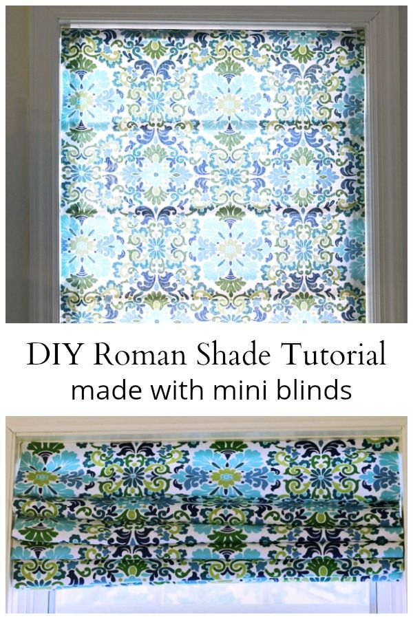 Roman Shade Tutorial Made From Cheap Mini Blinds Roman Blinds