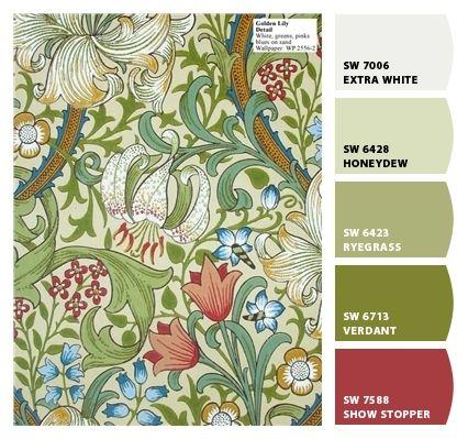 William Morris wallpaper      www.seejanecolor.net