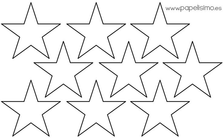 Plantilla estrellas cinco puntas- Five-Pointed starsl