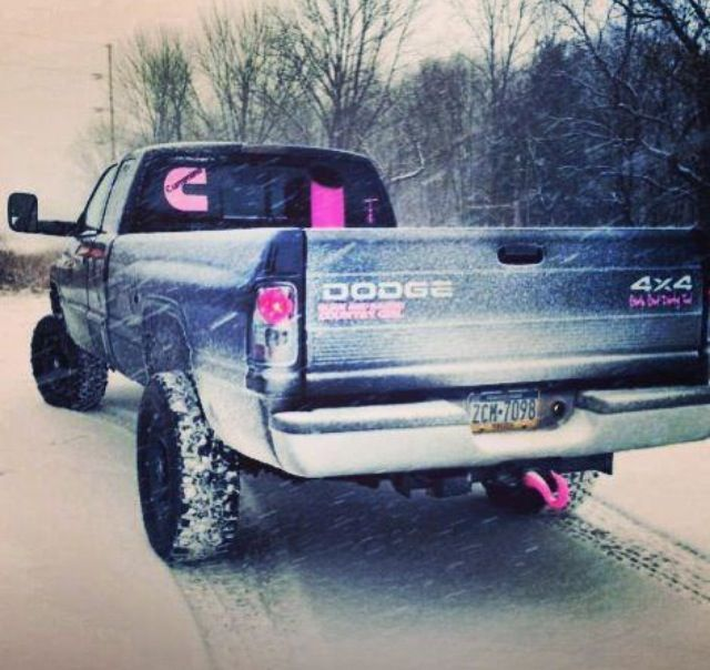 Pink and black dodge cummins!!! ok, THIS is a truck id love to have! so me!