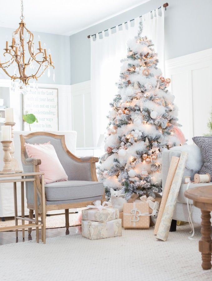 Christmas Tree Living Room best 25+ white christmas trees ideas on pinterest | white