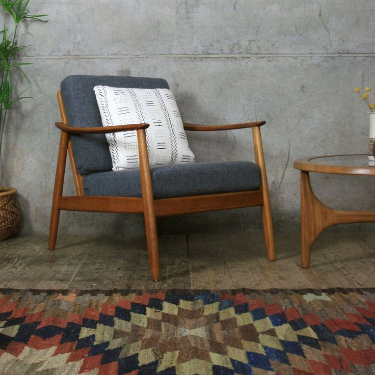 Vintage Swedish Teak Armchair by Folke Ohlsson for Dux