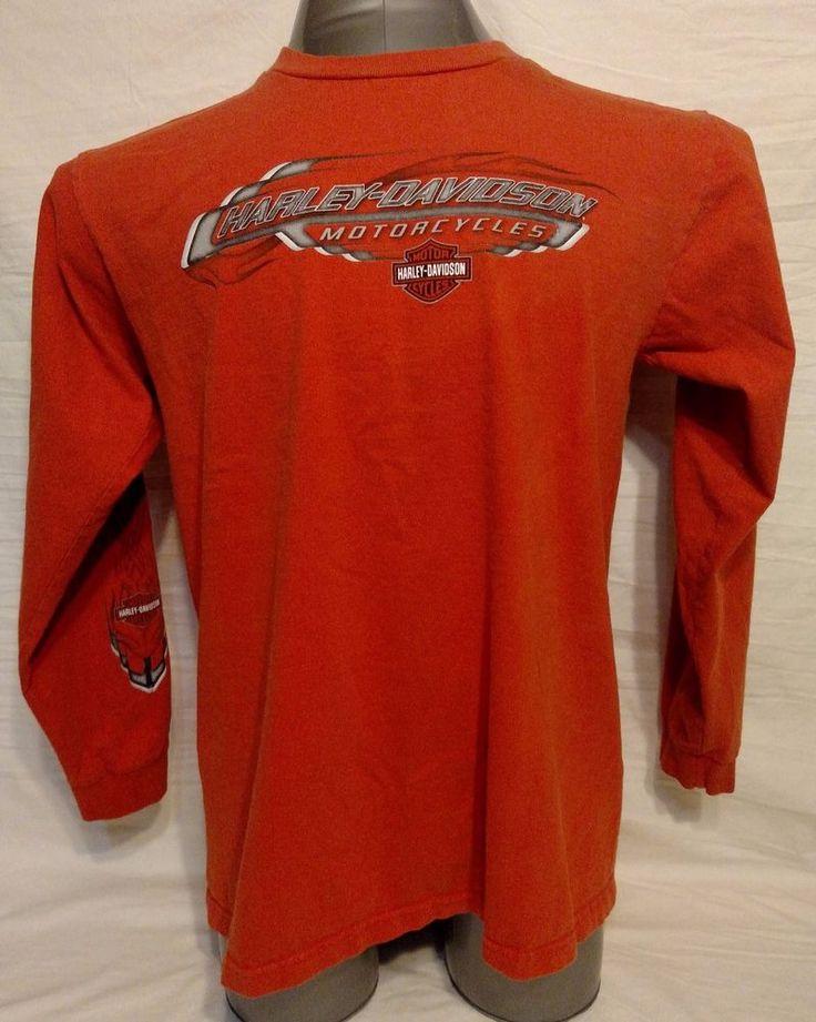 Harley-Davidson Williamsport Pennsylvania, Men's Long Sleeve Shirt, Size Large