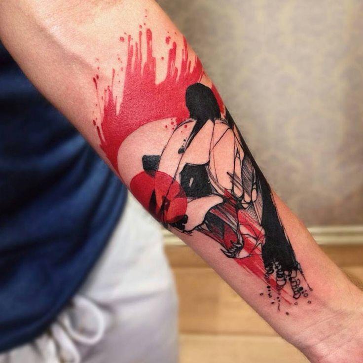 #tattoo by @phelliperodriguess #tattoos #tattooed #panda #pandatattoo #タトゥー #татуировка #тату #панда