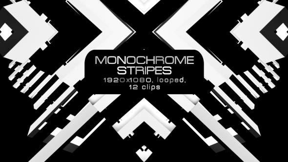 Monochrome Stripes Video Animation | 12 clips | Full HD | Looped | Photo JPEG | Can use for VJ, club, music perfomance, party, concert, presentation | #black #disco #dynamic #edm #fast #loop #monochrome #moving #music #shape #stripes #techno #trap #vj #white