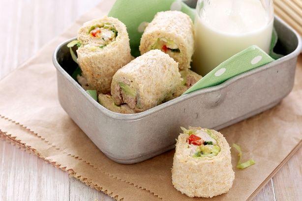 Sushi sandwich bites  http://www.taste.com.au/recipes/25343/sushi+sandwich+bites