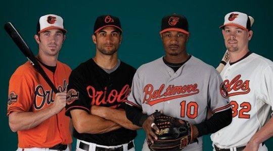 BALTIMORE ORIOLES: Unveiling of new orange jerseys and cartoon ...