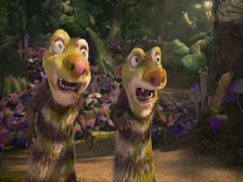 Brain Break Video: Ice Age 3 - Walk the dinosaur--clips from IA3; no choreographed movements, but great to dance to