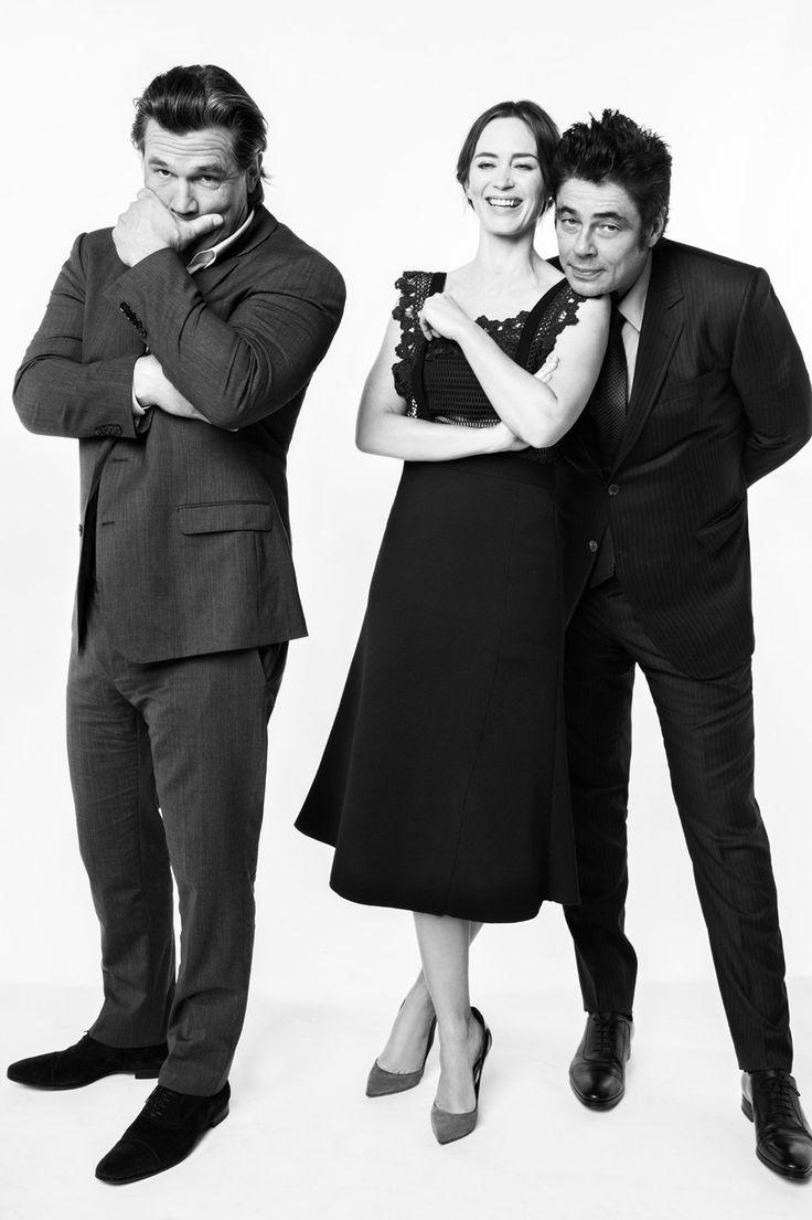 Josh Brolin, Emily Blunt and Benicio del Toro (as the giant five year old)