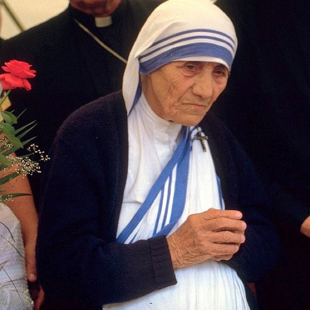 Mother Teresa  Mother Teresa at a pro-life meeting in 1986 in Bonn, West Germany ReligionCatholic OrderSisters of Loreto (1928–1950) Missionaries of Charity (1950–1997) Personal NationalityIndian BornAgnes Gonxhe Bojaxhiu August 26, 1910 Skopje, Republic of Macedonia) DiedSeptember 5, 1997 (aged 87) Calcutta, India Senior posting TitleSuperior General Period in office1950–1997 SuccessorSister Nirmala