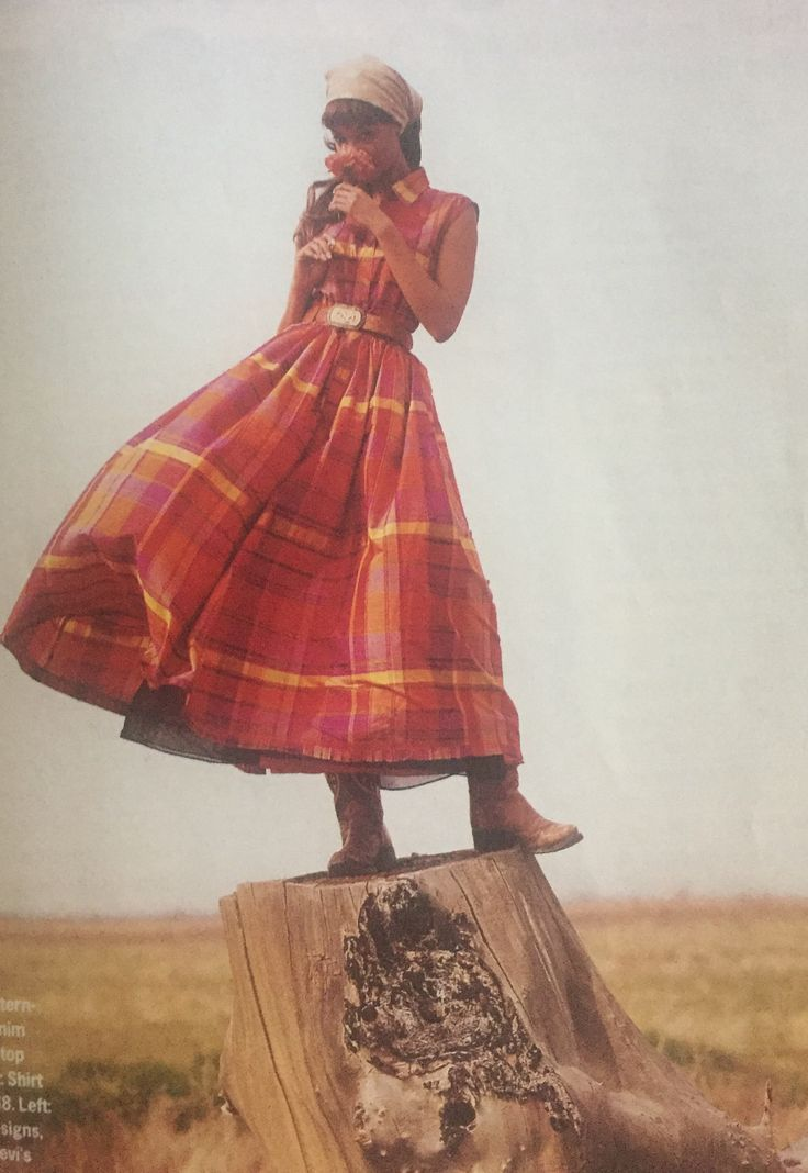 """Tyra Banks, Elle Magazine. """"How the West was Worn"""" spread. 1993."""