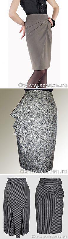 Офисная юбка - благородная элегантность серого..