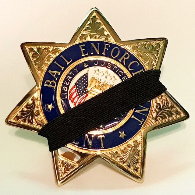 Bail Enforcement Agent Badge 7-Point Memorial Badge Glo-Tone