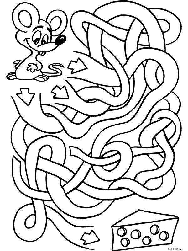 лабиринт для малышей картинки раскраски