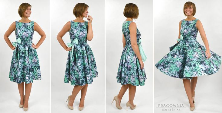 DIY: A Princess styleline cocktail dress, with a full circle skirt http://www.pracowniajanlesniak.pl/en/diy-a-princess-styleline-dress-with-full-circle-skirt/