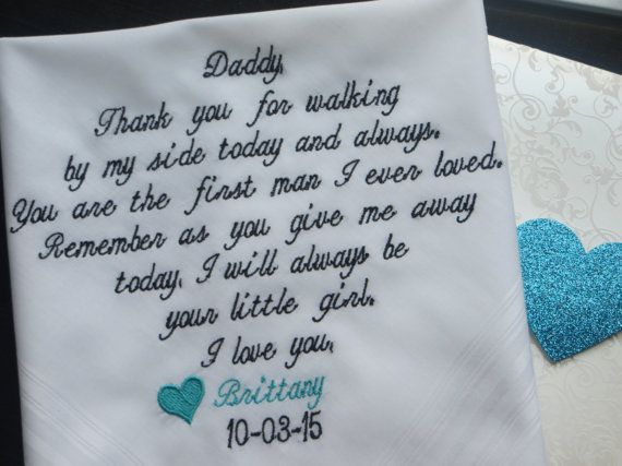 40 words of your choice. Father's Wedding by elegantmonogramming