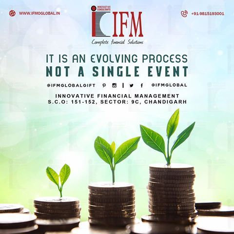 It's an evolving #process, not a single event!! Be #patient, and keep on working for your dreams.  #GIFT #IFM #FinancialLiteracy #FinancialAdvisor #Chandigarh