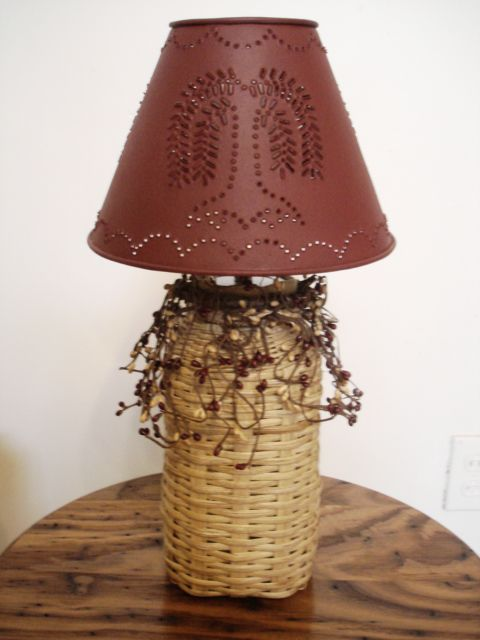 Primitive Woven Lamp by Lara Lawrence         This is made on a 1/2 gallon canning jar