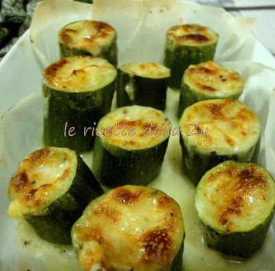 Le ricette della Zu: Tronchetti di zucchine con crescenza al gratin