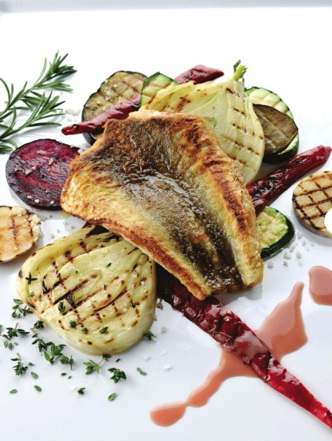 Rode poon met rode wijn en geroosterde groenten  http://www.njam.tv/recepten/rode-poon-met-rode-wijn-en-geroosterde-groenten