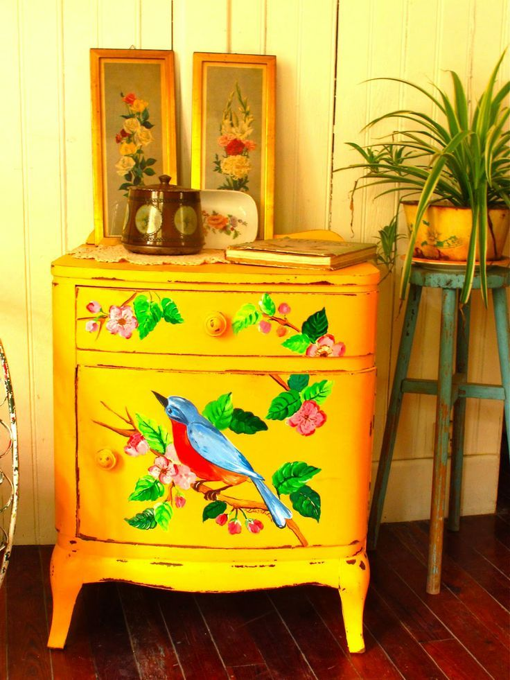 Best 25+ Yellow distressed furniture ideas only on Pinterest   Diy ...
