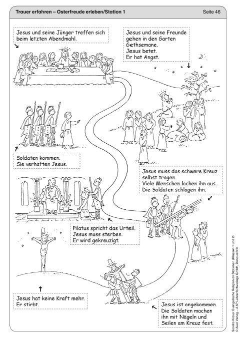 """""""Jesus: Die Kreuzigung"""" Religion-Ethik, #Auer Verlag #Arbeitsblätter"""