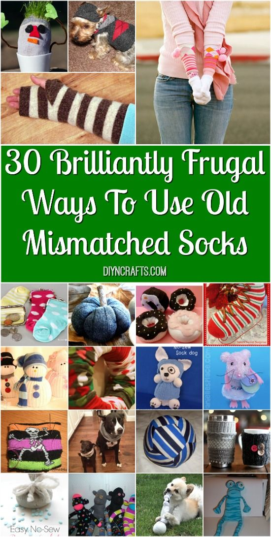 30 Brilliantly Frugal Ways To Use Old Mismatched Socks - The best socks upcycling, repurposing ideas curated by diyncrafts.com team! Enjoy <3 via @vanessacrafting