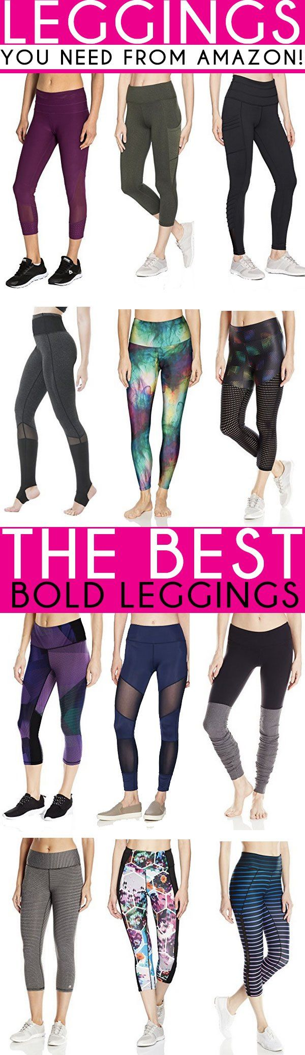 The BEST Leggings on Amazon for those days you need workout leggings! |Athletic Leggings | Mesh Leggings that are amazing! | Athletic Wear from Amazon | Leggings with cut outs | Bold & Colorful Leggings | Black Leggings |