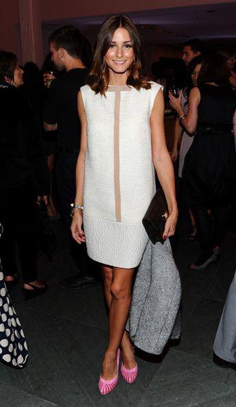 Minimalist little white dress