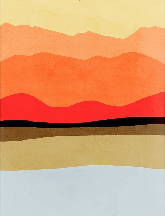 Mid Century Modern Art Abstract Art Print Modern Wall by evesand
