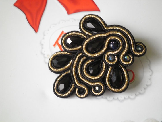black and gold by AusraTapati on Etsy, £20.00