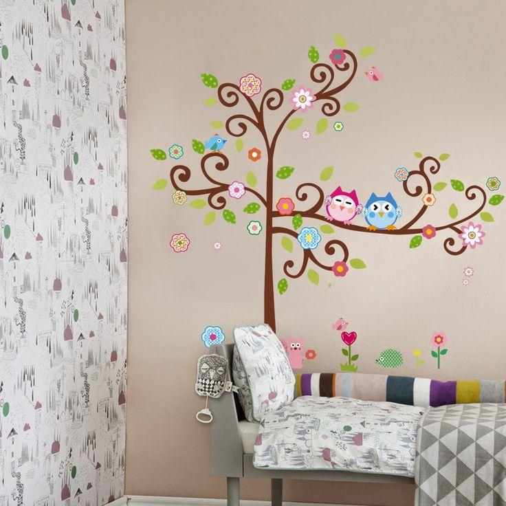 Buhos pintados en paredes juveniles buscar con google for Decoracion de cuartos juveniles