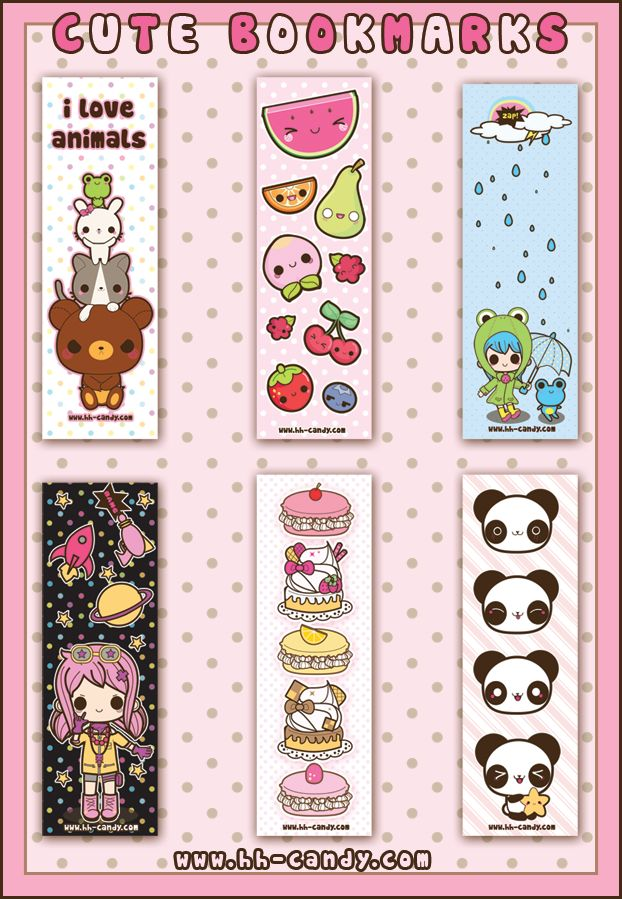 Cute Bookmarks Designs 2 By *A Little Kitty On DeviantART