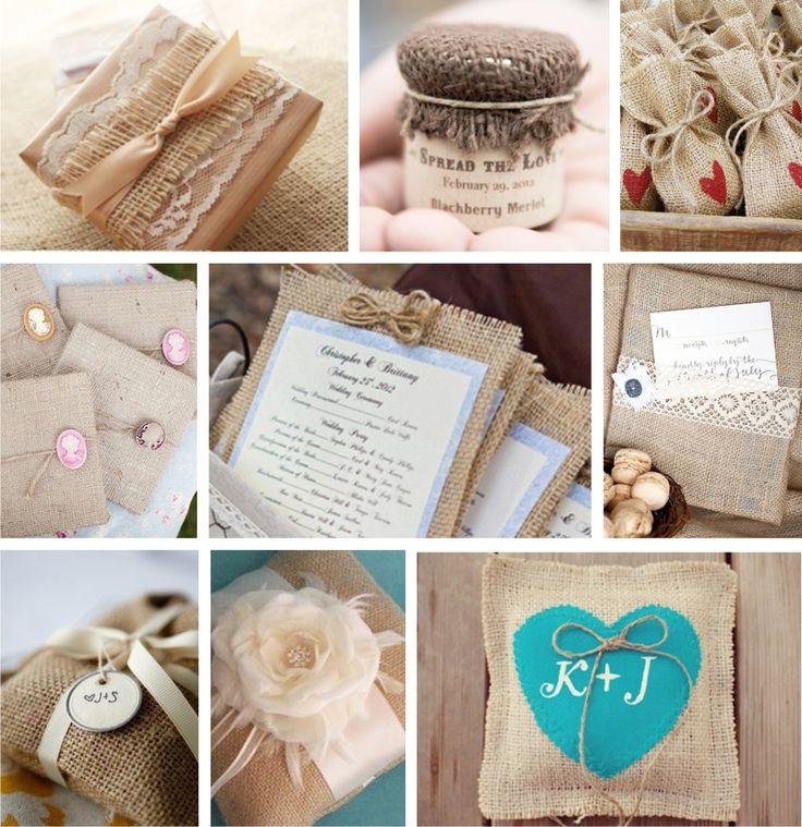 свадьба декор мешковина лен - Поиск в Google
